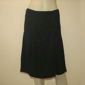 Prada Black Pleated Rouched Skirt Italy 42/8